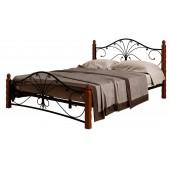 Кровать Фортуна 1чёрный/махагон